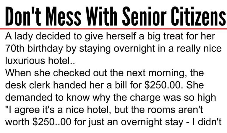 Laugh of the day: Don't mess with senior citizens!