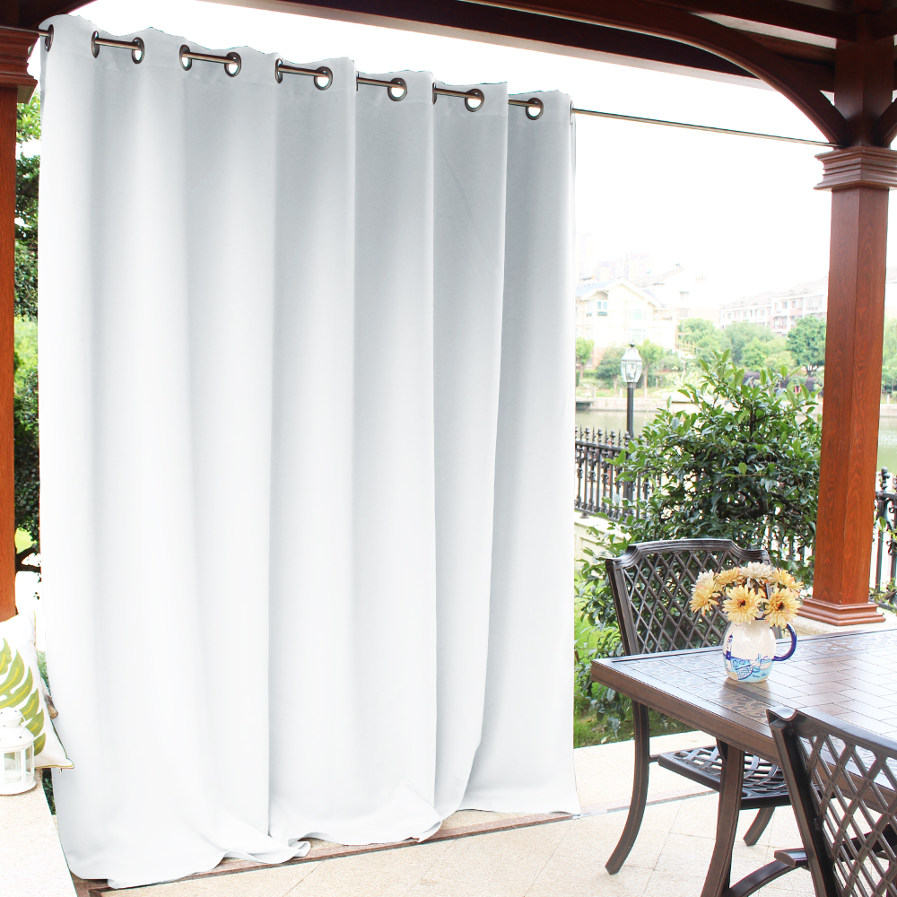 extra wide blackout waterproof outdoor curtain for patio front porch 1 panel