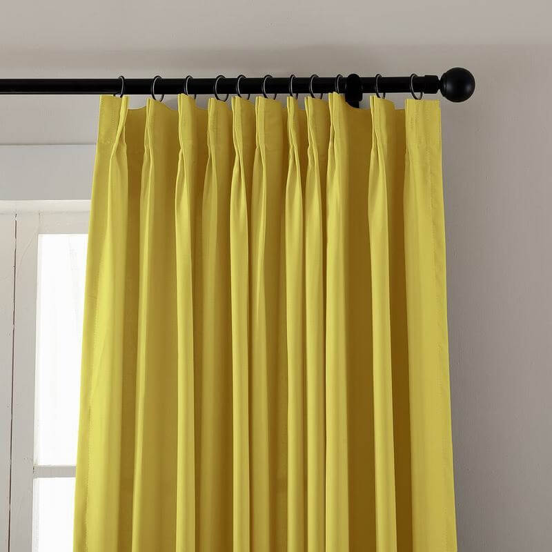 pinch pleated curtain blackout patio door panel drape for traverse rod track paz