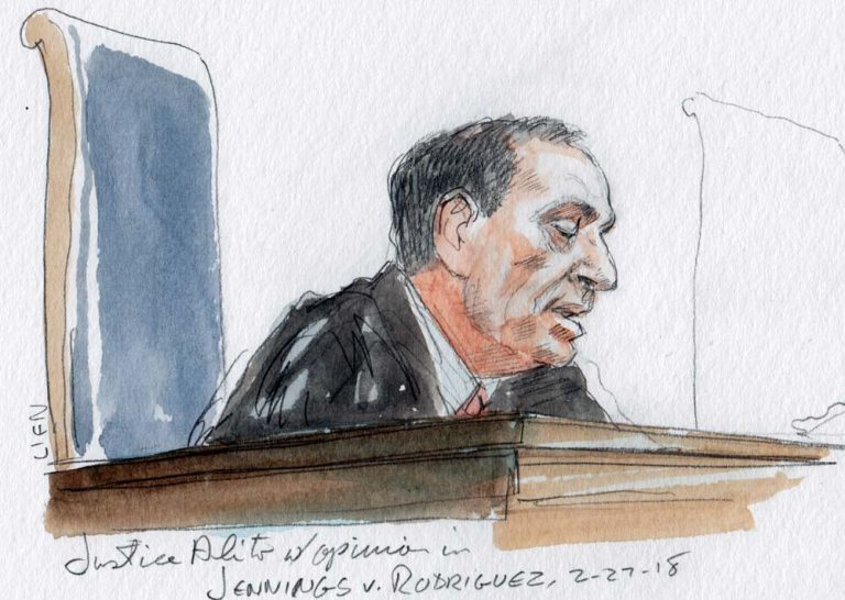 Justice Alito with opinion in Jennings v. Rodriguez (Art Lien)