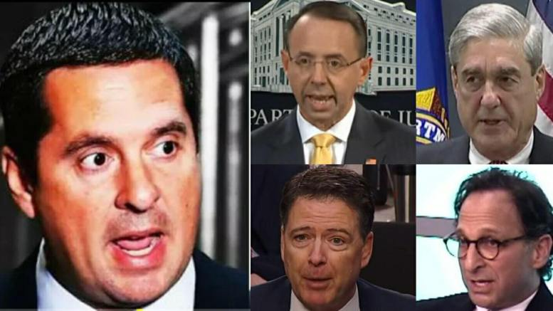 Devin Nunes (CA-R) will file Contempt of Congress and impeachment charges on DOJ and FBI for withholding documents if tonight's deadline not met. Photo credit to US4Trump compilation.