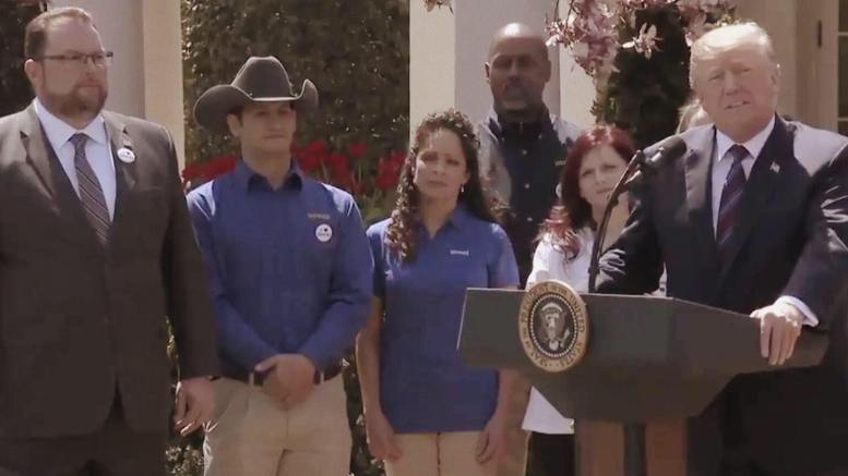 President Trump does the kindest thing for American workers! Photo credit to screen capture by US4Trump.