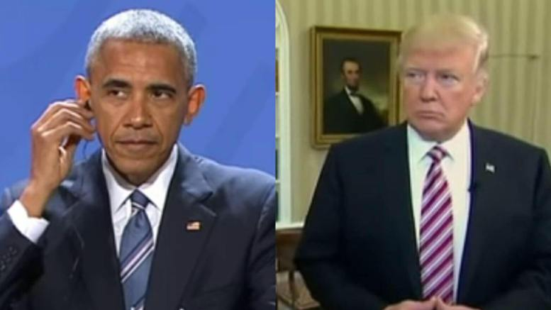 """Strzok/Page texts reveal that the Obama administration are complicit in the """"wiretapping"""" of Trump campaign. Photo credit to US4Trump with CBS and Hannity screen captures."""