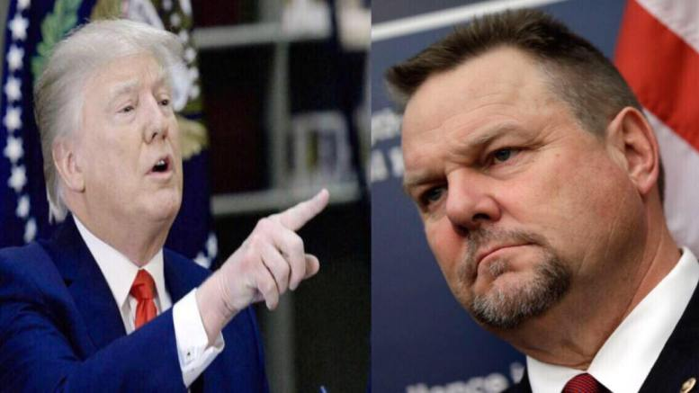 Trump tweets the news that Secret Service confirms false allegation in Jon Tester (MT-D) smears of Rear Adm Dr. Jackson. Image Source: Screen Grab & CSGV. US4Trump Compilation.