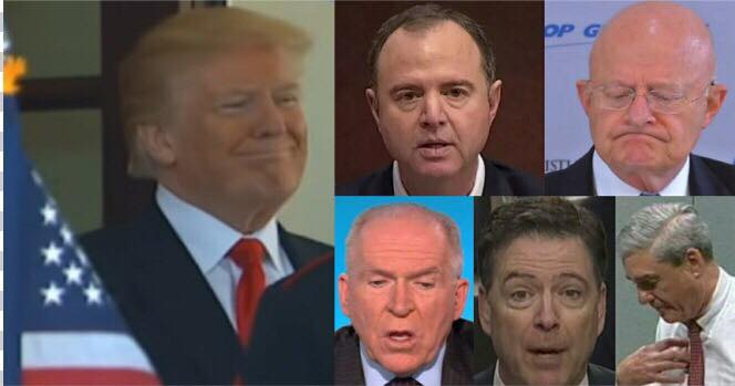 Collusion probe questions to the President leaked to NYT. Photo credit to US4Trump with Live Satelite News /MSNBC and YouTube Screen Grabs.