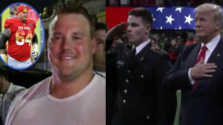 Richie Incognito supports President Trump and First Lady Melania's policies and causes! Photo credit to US4Trump compilation enhancements with (L) USA Today Sports, TMZ Screen Grab (R) ABC Screen Grab.