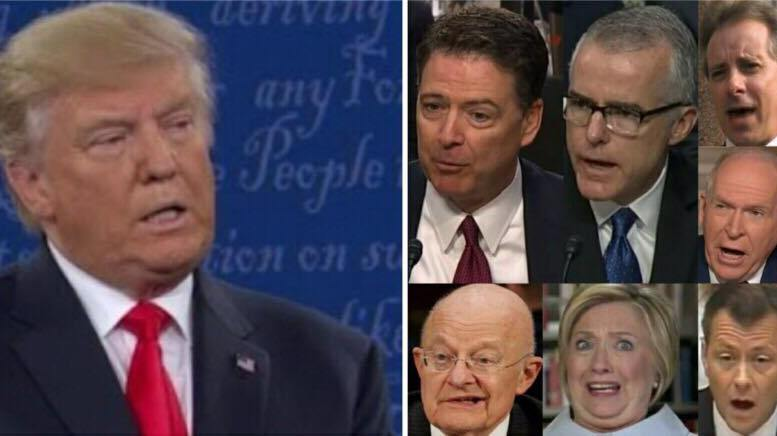 Will President Trump DECLASSIFY the FISA documents? Photo credit to US4Trump screen capture compilation.
