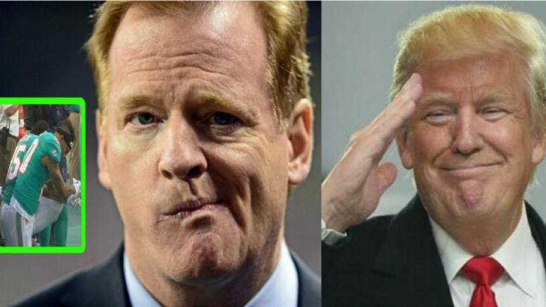 NFL viewership down on first game as Nike advertisement rolls out. Photo credit to US4Trump compilation with (Inset) Local News 10 (L) USA Today (R) Screen Grab.