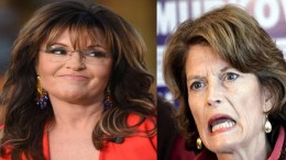 Palin tells Murkowski six words that will rock her world! Photo credit to US4Trump compilation with Decider & Life News.
