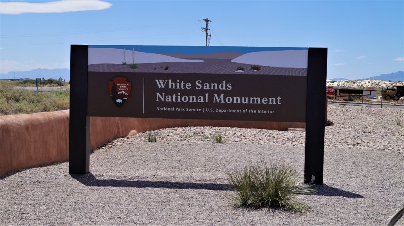 White Sands National Monument Schild