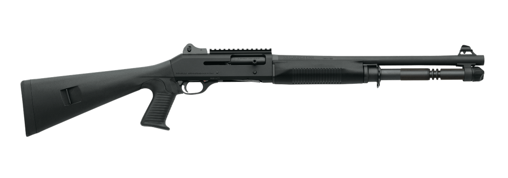 The Benelli M4 Tactical shotgun is a legend in the military and with law enforcement officers. Buy a Benelli online right now.