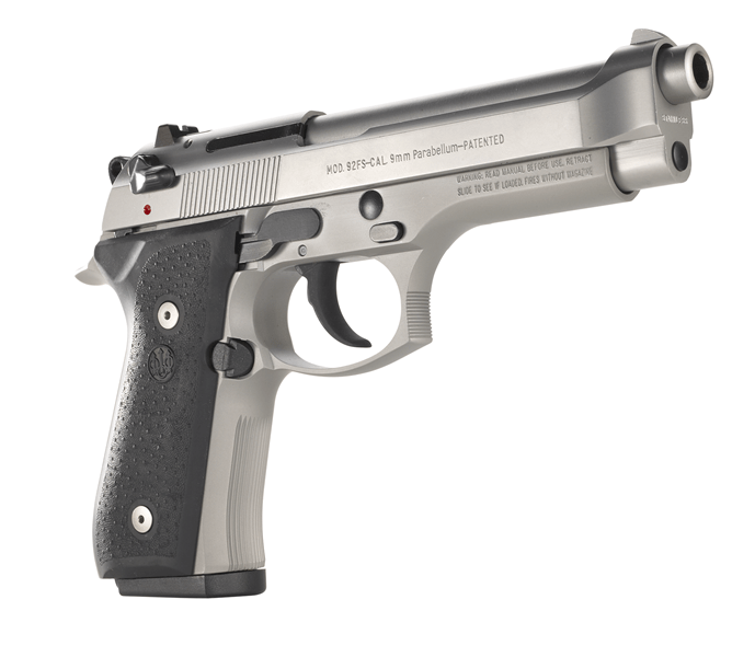 Beretta 92 INOX - a Great full size handgun that is also a style statement. Buy your gun online right now.