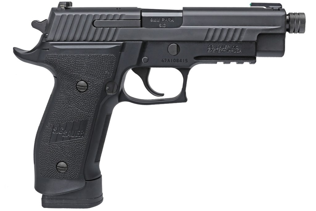 SIg Sauer P226 Tacops for sale. A great full size 9mm pistol that will give you options when it comes to home defense.
