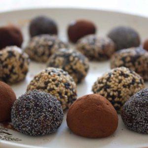 Trufas de Coco y chocolate Oscuro