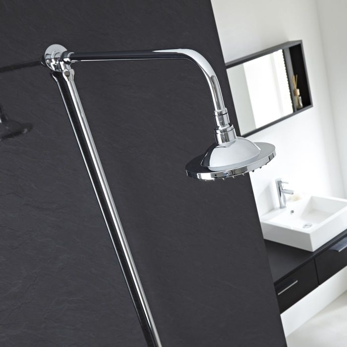 Chrome Traditional High Quality Rigid Riser Shower Kit