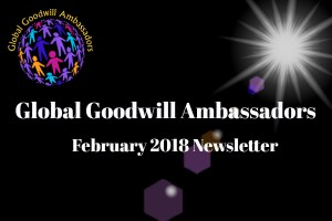 02 - 2018 - Global Goodwill Ambassadors (GGA) founded by Richard DiPilla - Newsletter