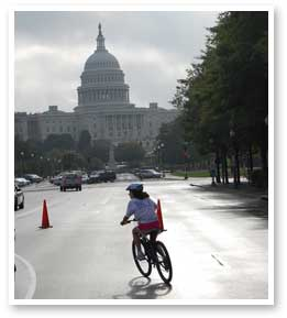 Funding for bike and pedestrian enhancements could be cut if the GOP wins back control of the House. Image courtesy of ##http://waba.org/##WABA##