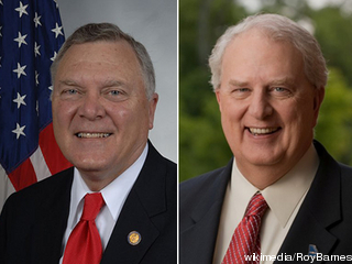 Well, yes, they look like identical twins. But the candidates for GA governor have different priorities for transportation. Image: ##http://tpmdc.talkingpointsmemo.com/2010/09/poll-dem-barnes-tied-up-with-goper-deal-in-ga-gov-race.php##TPM##
