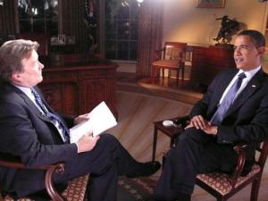 Steve Kroft interviews President Obama on 60 Minutes. Photo: ##http://www.politico.com/politico44/perm/1110/fair_argument_d19ed6eb-5f41-45cb-a477-31c6e438b667.html##AP##