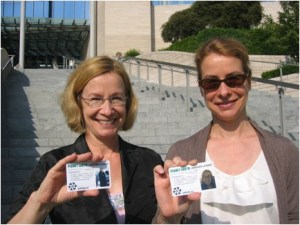 The authors with their Undriver's licenses.