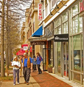 Compact urbanism even works in the suburbs, like Bethesda, Maryland. Image: ##http://maryland.sierraclub.org/montgomery/growth_what.html##Maryland Sierra Club##