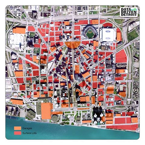 Downtown Pittsburgh Parking Map on