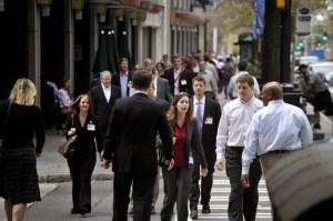 Uptown Charlotte. This city was recently named the least walkable in America. Image: ##http://nakedcityblog.blogspot.com/2013/11/least-walkable-city-in-us-is-wait.html## The Naked City##