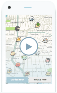 Waze, an app that encourages drivers to enter real time data about road conditions, just sold to Google for $1.1 billion. Image: Waze