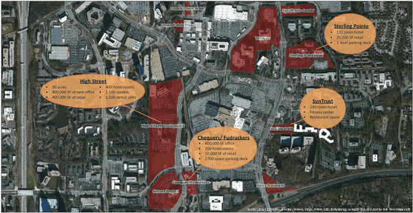 Massive new development in Atlanta will be walkable and convenient to transit. Image: Business Chronicle