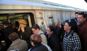 More riders and higher sales taxes make for a sunny financial outlook for transit. Photo: ##http://www.newsday.com/long-island/lirr-commuters-pack-trains-a-week-after-sandy-1.4188094##Newsday##