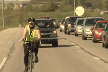 Cherokee Schill was ticketed three times for riding her bike to work in Kentucky. This week a judge ruled in her favor. Image: WKYT