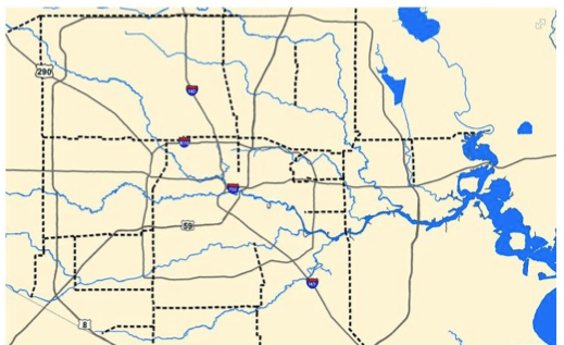 The Blue Lines Show Trails Planned As Part Of The Bayou Greenways System Image