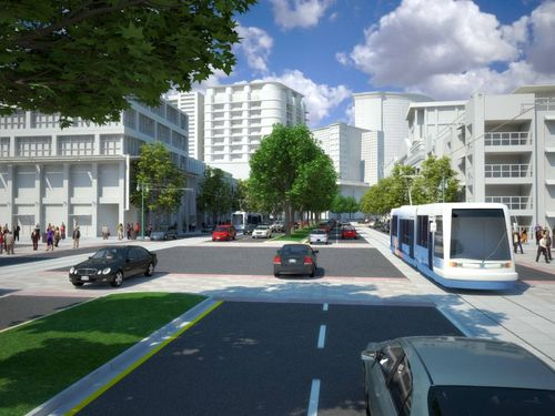 The long-term vision for Tysons calls for a walkable, urban setting.