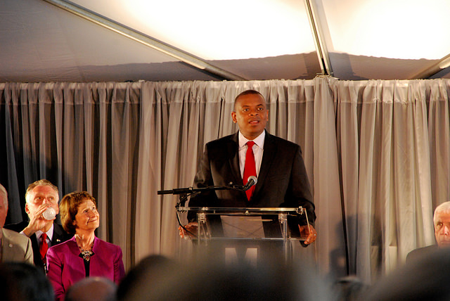 US DOT Secretary Anthony Foxx at the Silver Line's opening day. Photo via BeyondDC.