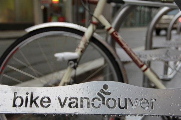 Vancouver, land of the 5 percent bicycle mode share. Photo: ##https://www.flickr.com/photos/pwkrueger/5248539286/in/photostream/##Paul Krueger/flickr##