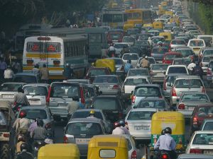 A Delhi traffic jam. Photo: Wikipedia