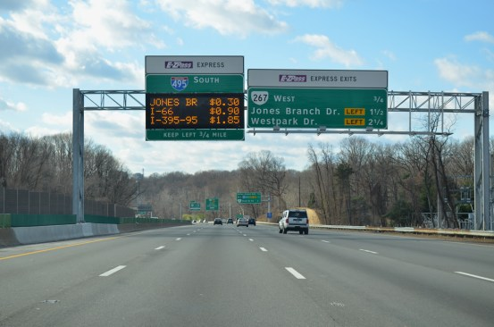 HOT lanes opened on the Capital Beltway in Northern Virginia in the time since the study period. Photo: ##http://www.aaroads.com/guide.php?page=i0495oava##AA Roads##