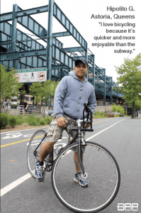 The Biking Public Project in New York took bike portraits of Jackson Heights residents to show the diversity of riders. Photo: ##http://bikingpublicproject.tumblr.com/page/2##BPP##