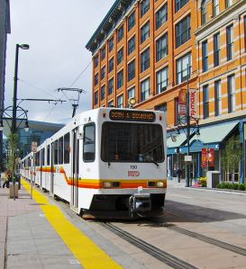 This could be the year to equalize benefits for transit riders and make it permanent. Photo: ##http://en.wikipedia.org/wiki/RTD_Bus_%26_Light_Rail#mediaviewer/File:Denver_light_rail_train_at_16th-California_station.jpg##Wikipedia##
