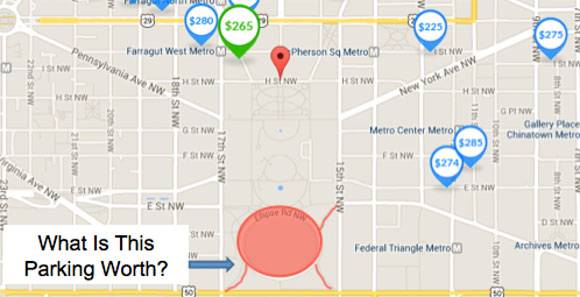 The Ellipse, just south of the White House, is dedicated to free parking
