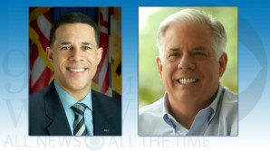Maryland Lt. Gov. Anthony Brown, left, and Republican challenger Larry Hogan, right.