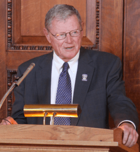 Sen. Jim Inhofe (R-OK) will take the reins of the powerful EPW committee -- and he just can't wait to eliminate all federal bike/ped funding. Photo: ##http://www.inhofe.senate.gov/newsroom/photo-gallery/greater-oklahoma-city-chamber-of-commerce-fly-in##Office Sen. Inhofe##