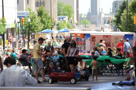 """Tulsa's """"Street Cred"""" festival took over its massive downtown parking crater. Photo: Zach Stoycoff, Tulsa Chamber of Commerce"""