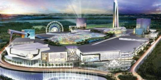 """The American Dream Miami"" mall and retail complex would include an indoor ski slope, a Legoland and sea lions. Image: Miami Herald"