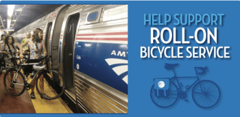 Advocates for bikes aboard trains consider this bill a victory. Image via Adventure Cycling Association