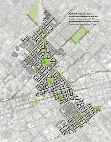 The A New Dallas Coalition wants to tear down IH345, rebuild the urban fabric and change the transportation dynamic in the Big D. Image: A New Dallas