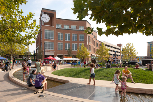Normal, Illinois, transformed its downtown and improved its transportation options thanks to a TIGER grant. Photo: ##http://t4america.org/maps-tools/local-successes/normal/##Transportation for America##