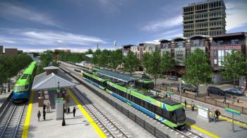 Light rail between Chapel Hill and Durham, North Carolina, is expected to draw 23,00 riders a day. Image: Triangle Transit