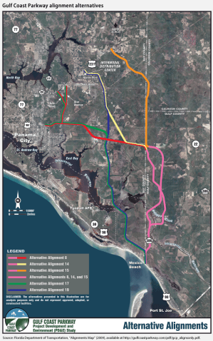 Gulf Coast Parkway: For $422 million, phantom new drivers on US 98 near Fort Lauderdale can have an alternate route that takes longer. Image: FDOT