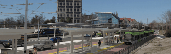 A rendering of the 17-mile Durham-Orange light rail plan. Image: Go Triangle